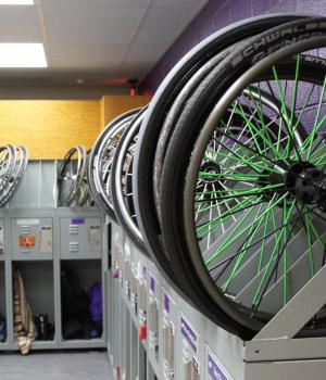 Athletic Wheelchair Supply Storage