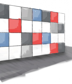 Wall Partition with day use lockers